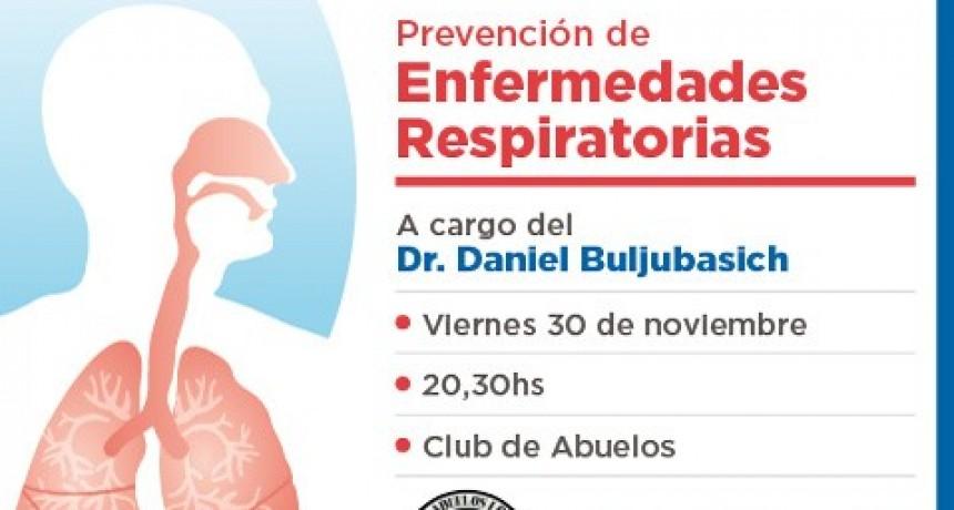 Charla sobre prevención de enfermedades respiratorias
