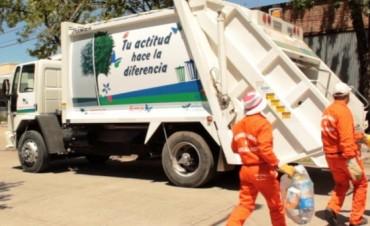 Recolección de residuos en Avellaneda por las fiestas