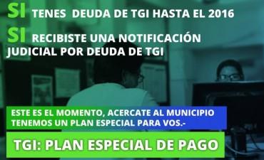 Tasa General de Inmuebles: plan especial de pago