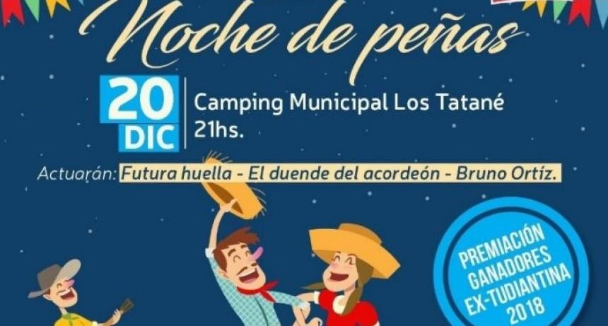 Noche de peñas en el Camping Municipal Los Tatané
